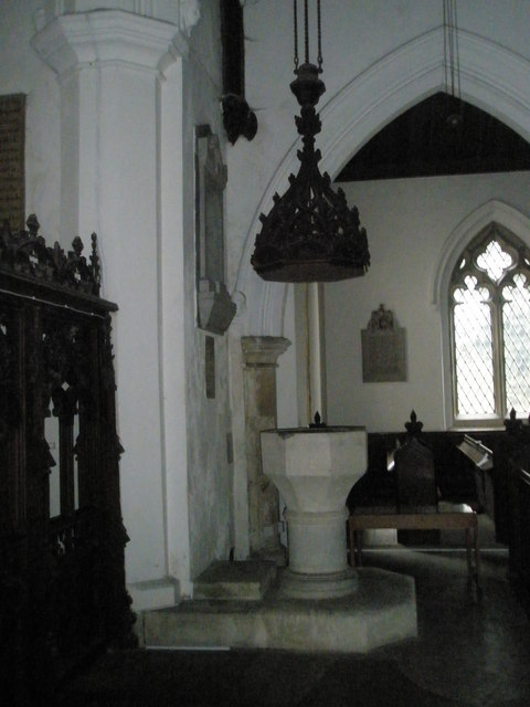 The font at St James's, East Tisted