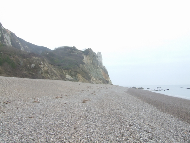 Hooken Landslip from Branscombe Beach