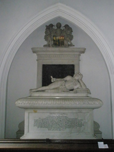 Lordly figure reclining within St James's, East Tisted