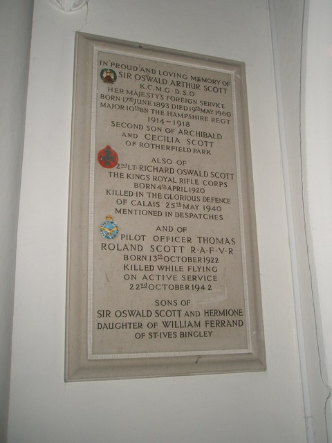 Commemorative plaque to a family who served the nation