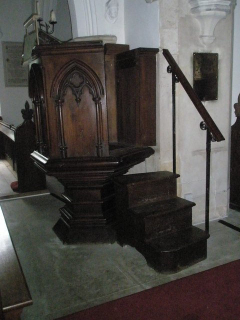 The pulpit at Within St James's, East Tisted.