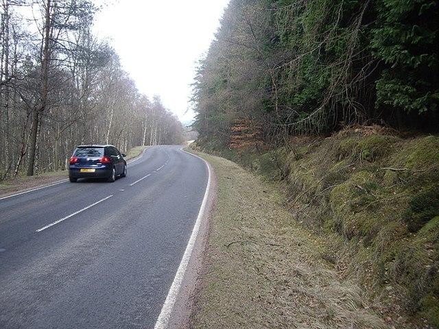 A93 near Woodend