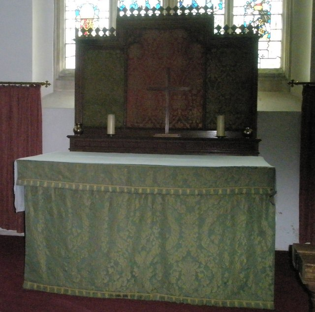 The altar at St James's, East Tisted