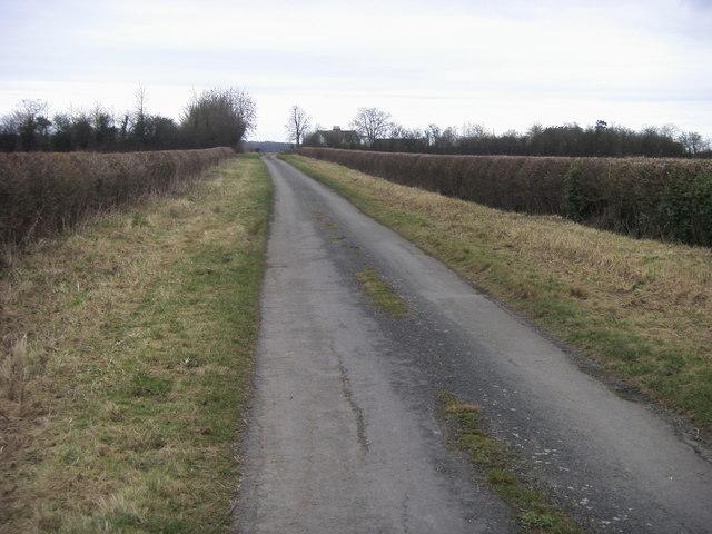 Lane up to Oddington Grange