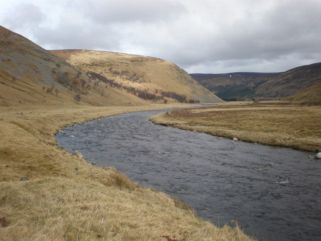 River Findhorn beside Coignafearn Looking East