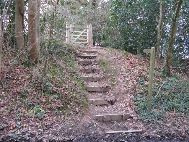 Steps to footpath gate