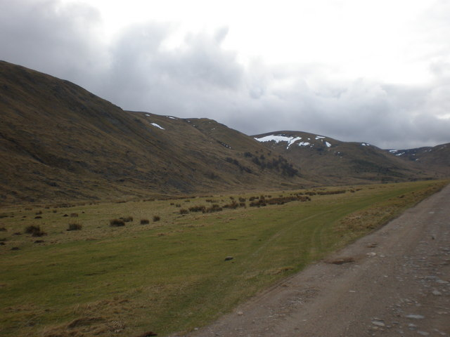 Continuing along Coignafearn Estate Road