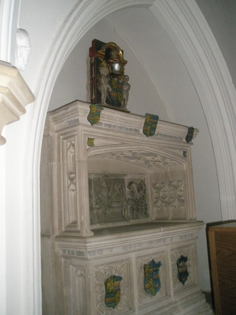 Ornate memorial within St James's, East Tisted