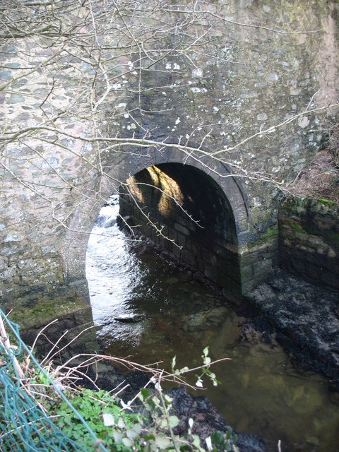 Afon Wygyr passing through the Bridge Street arch
