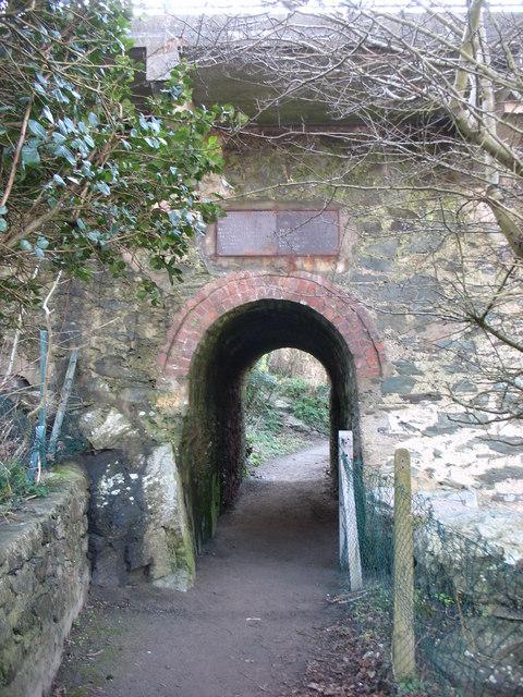 Tramway arch beneath the Wygyr Bridge