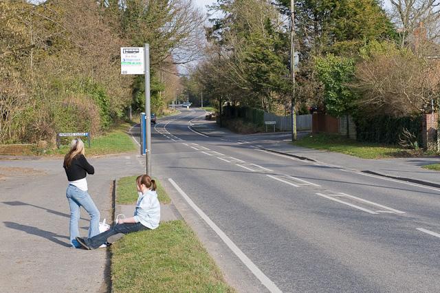 Bus stop on Mortimers Lane, Fair Oak