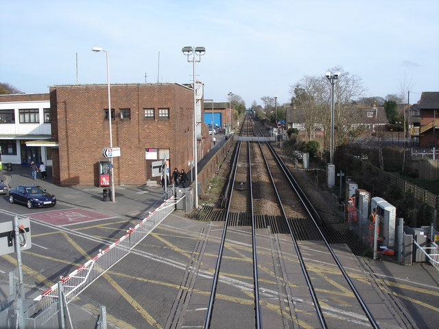 Chichester - view east from the station footbridge