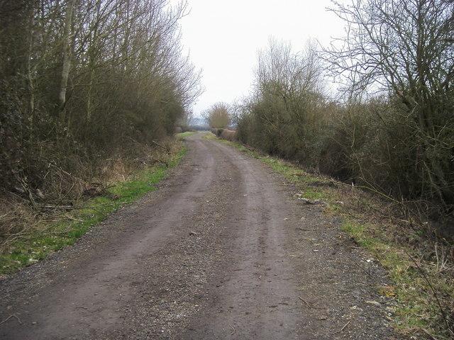 Bridleway heading down to Ot Moor