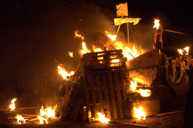 Burning the galley, Norik Up Helly Aa
