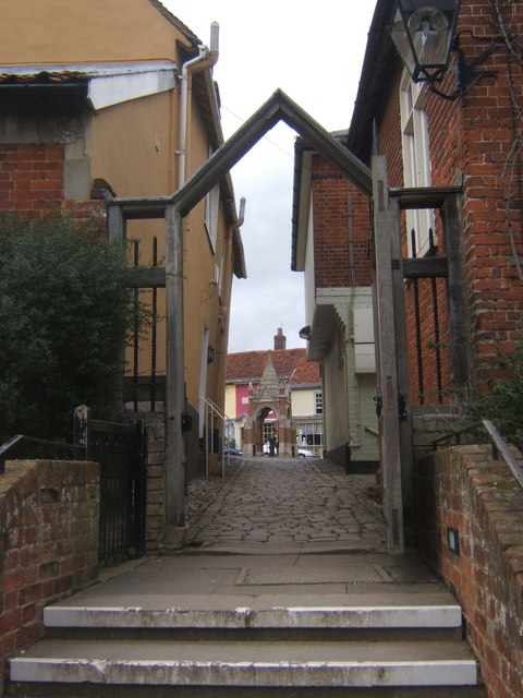 Passageway to the town from St Mary's Church