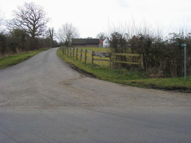 Bridleway down by Whitecross Green Farmhouse