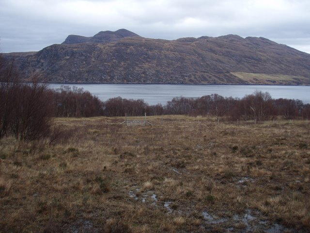 Field leading to Little Loch Broom