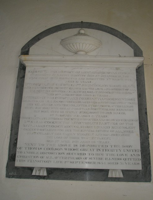 Ancient memorial within St Peter ad Vincula, Colemore