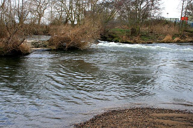 Breached Weir on the Derwent