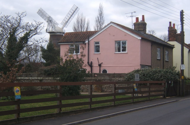 Houses and windmill