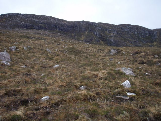 Lower slopes of Sail Mhor ridge