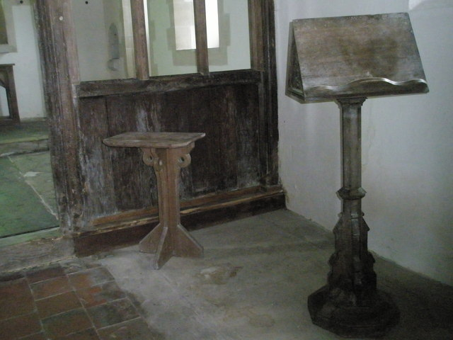 The lectern at St Peter ad Vincula, Colemore