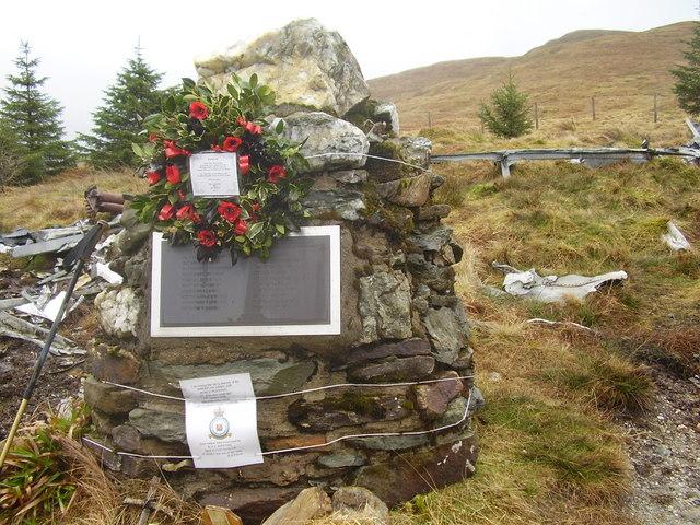 Cairn at crash site