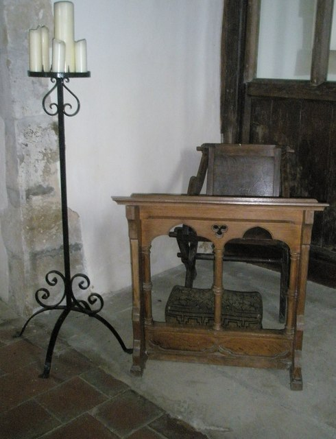 The incumbent's chair  within St Peter ad Vincula, Colemore