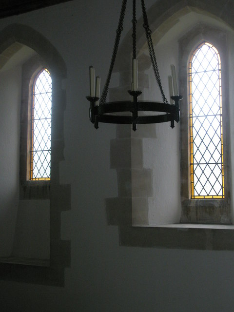 South facing windows within St Peter ad Vincula, Colemore