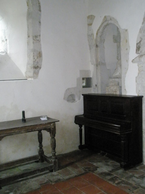 Storage area in the north transept at  St Peter ad Vincula, Colemore