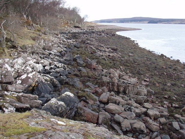 Shoreline of Little Loch Broom at Durnamuck