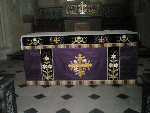 The altar at St Peter's, High Cross