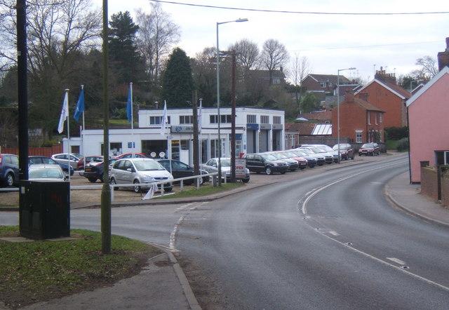 Car dealership on Ipswich Road