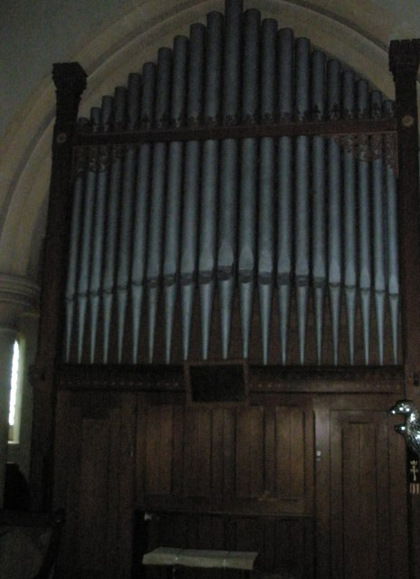The organ at St Peter's, High Cross