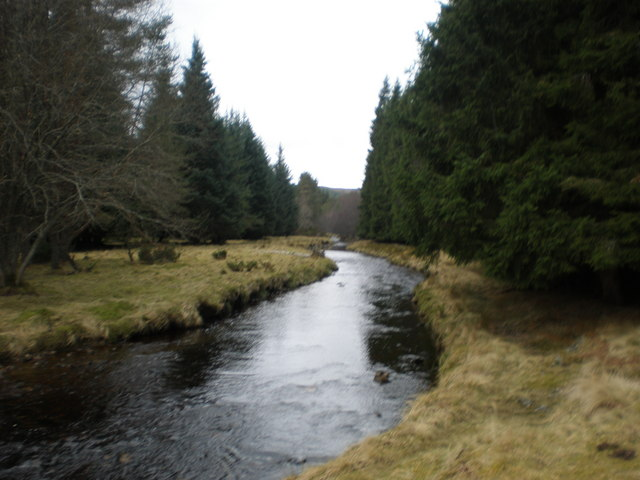 Kyllachy burn near Bridge on Farr - Garbole Road