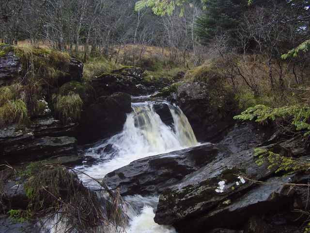 Waterfall on the infant River Cur