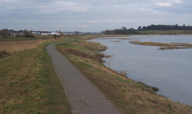Embankment footpath by the Deben