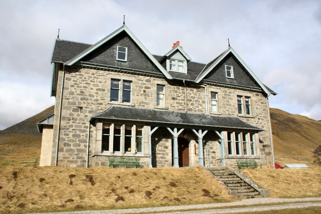 Front of Coignafearn Lodge