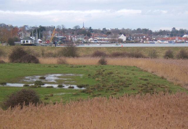 Low lying fields by the Deben