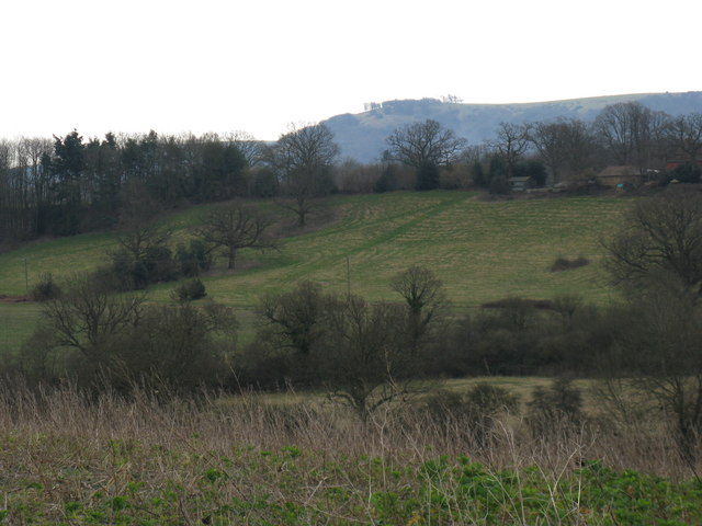 Fields and  view to Little Thakeham