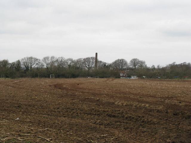 Ploughed field and playing field