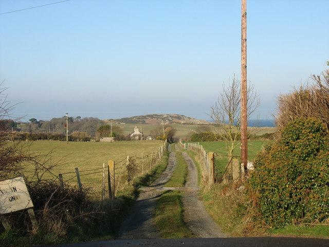 Lane leading to Tyddyn Goronwy