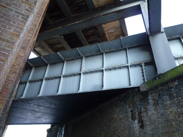 The Three Bridges - showing the cast-iron canal trough