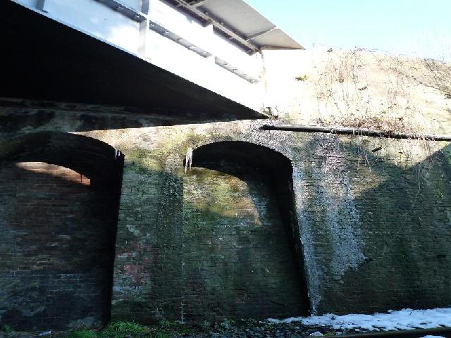 The Three Bridges - showing part of the embankment