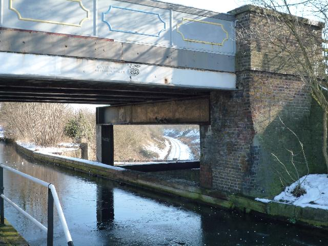 The Three Bridges and frozen canal