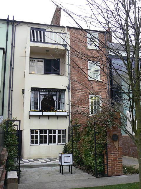78 Derngate, the Charles Rennie Mackintosh house, rear elevation