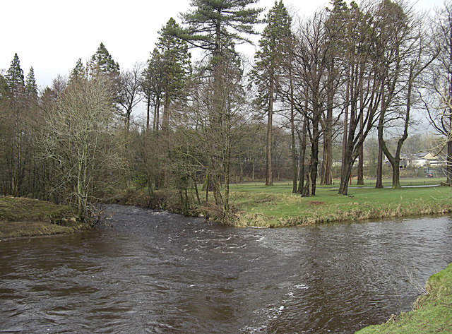 Confluence of the rivers Hodder and Dunsop