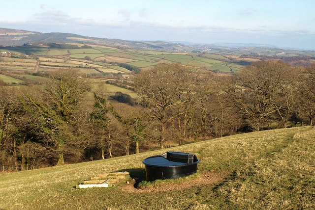 Drinking trough above Scae Wood