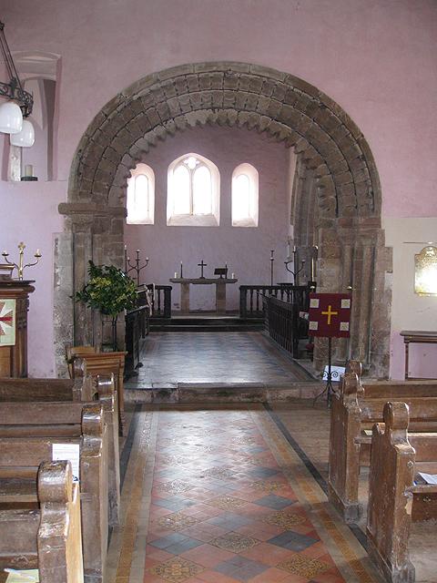 Chancel arch, St. Michael's, Garway