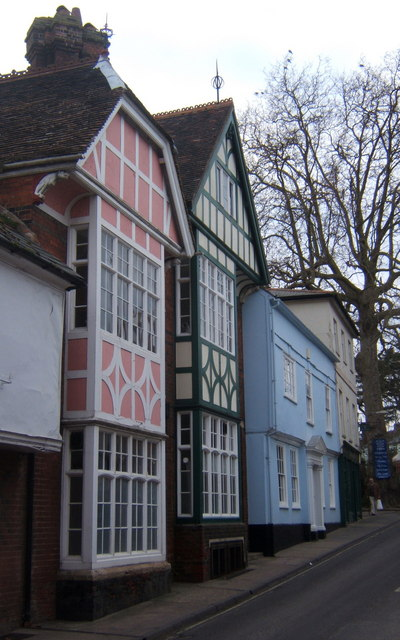Colourful timbered houses on Church Street